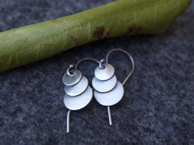 *SOLD OUT* Three moons sterling silver earrings