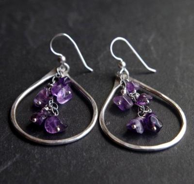 Purple Rain Amethyst earrings