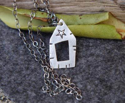 *SOLD OUT* Little barn sterling silver pendant