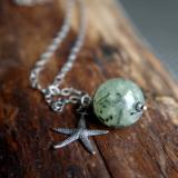 *SOLD OUT*Mossy Sea star necklace