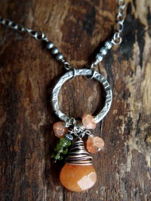 *SOLD OUT* Sterling Silver and Aventurine necklace