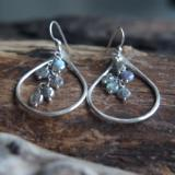 Mystic Labradorite rain earrings