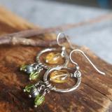 Citrine and Peridot earrings