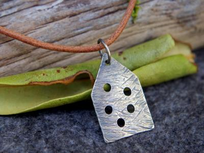 *SOLD OUT* Little cottage sterling silver pendant