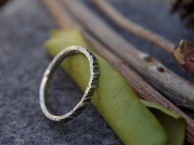 *SOLD OUT* Hammered silver stacking ring