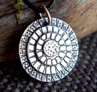 *SOLD OUT* Artisan Sterling silver necklace - Mandala circles